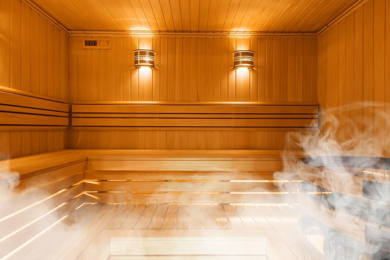 kąpiel w saunie