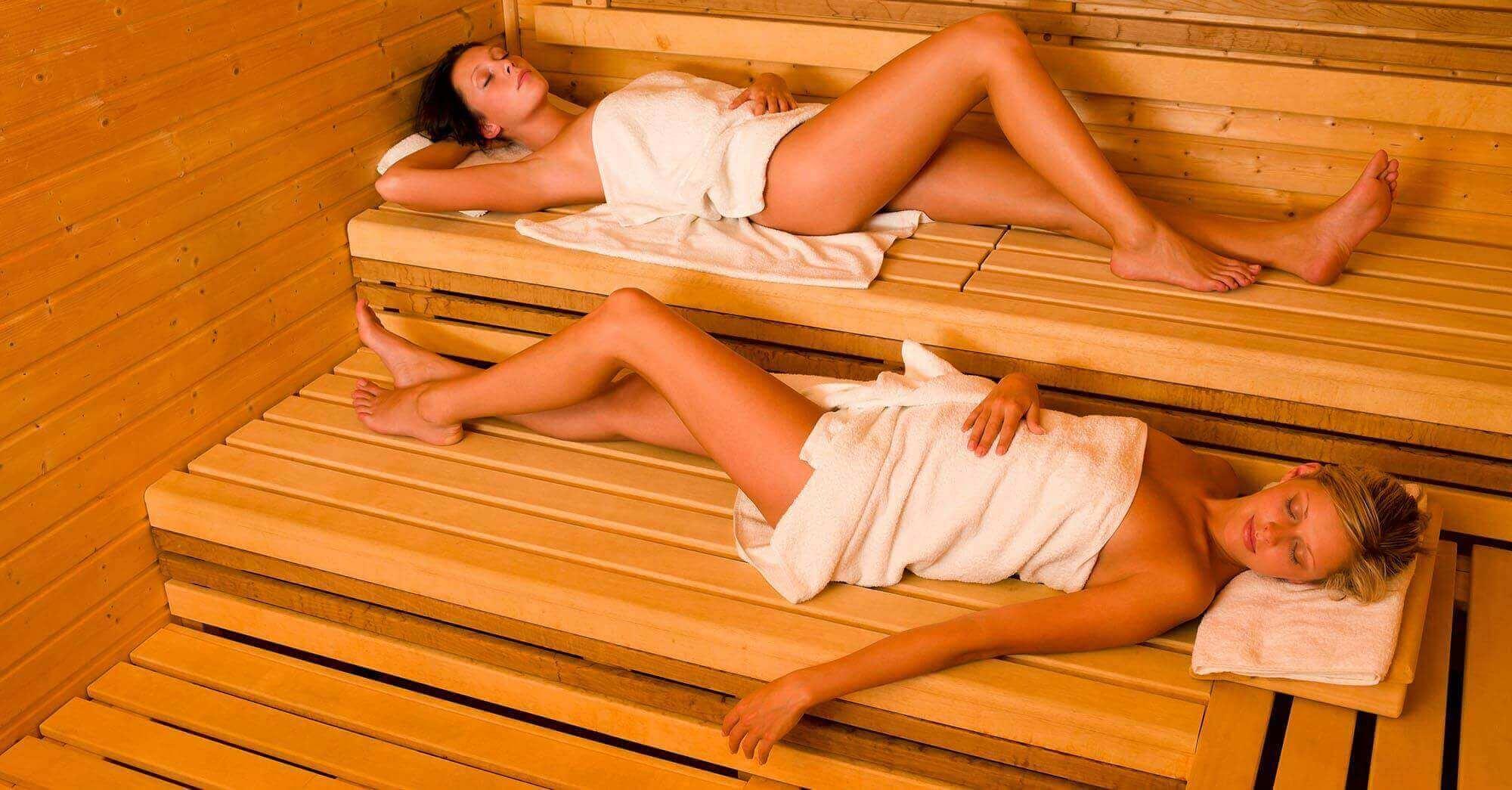 kobiety w saunie